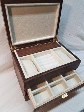 Custom Made Walnut Watch And Pen Display Jewelry Box