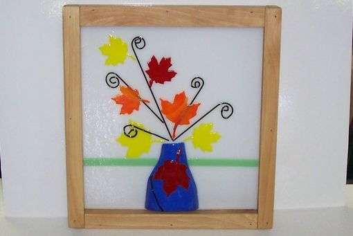 Custom Made Stained Glass Fall Leaves