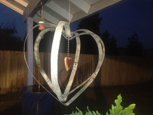 Custom Made Wine Barrel Band Heart Spinner