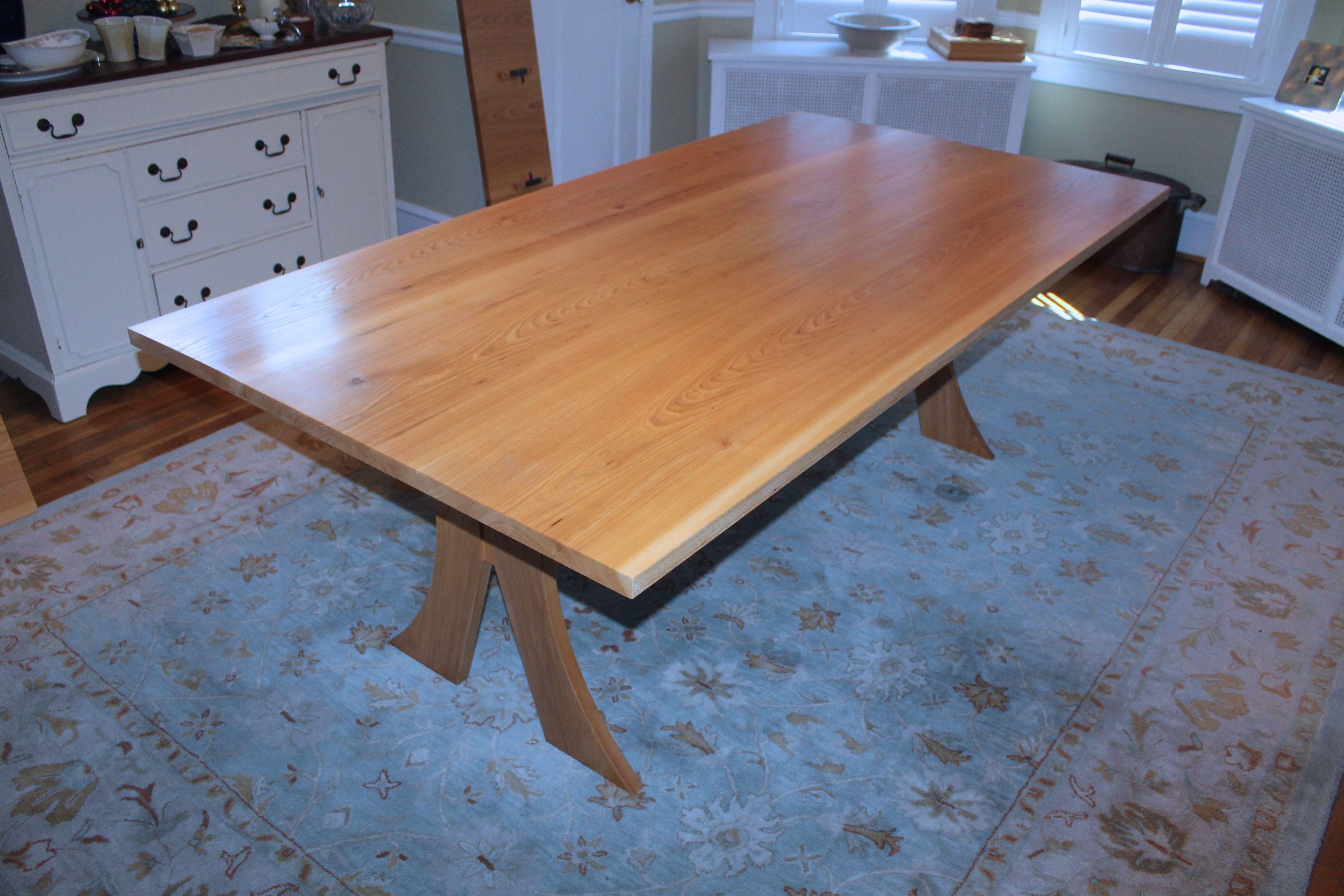 Custom Elm Dining Table by Fredric Blum Design   CustomMade.com