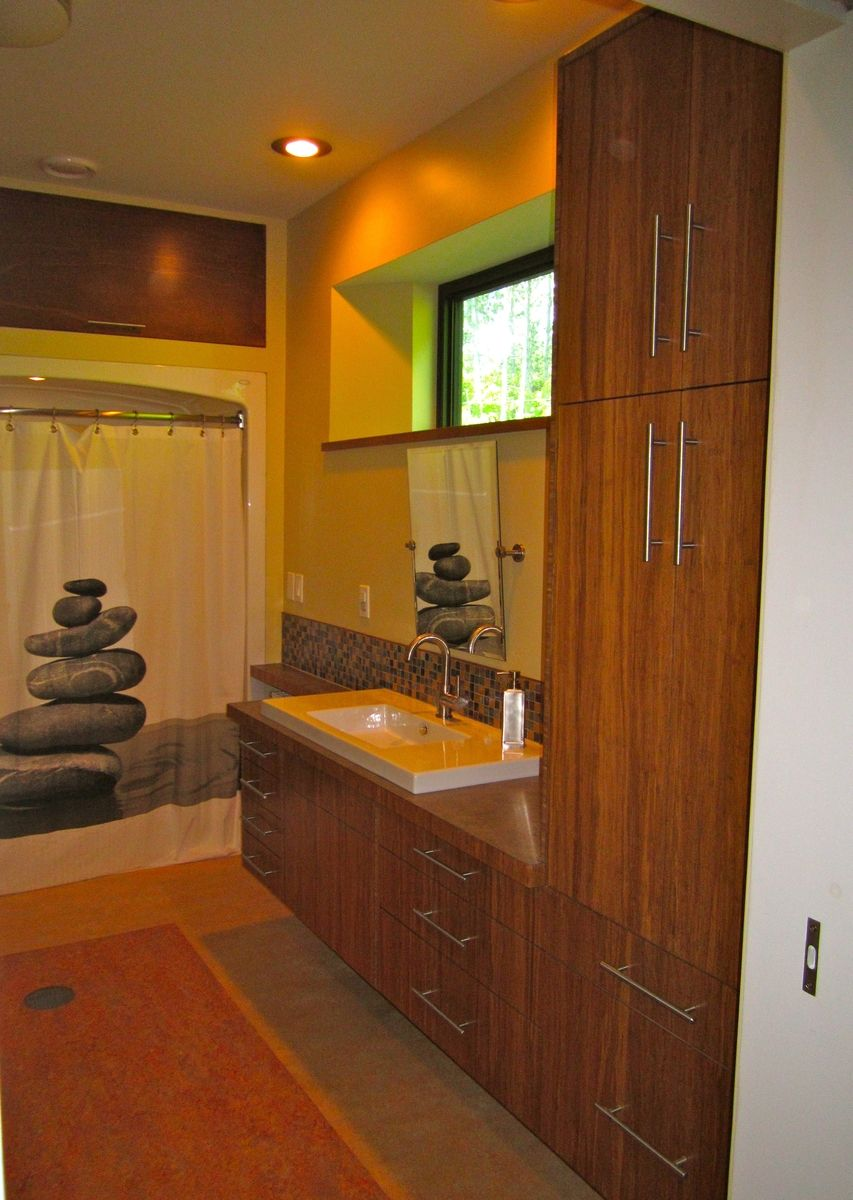Hand Made Custom Bamboo Plywood Vanity By Vermont Fine