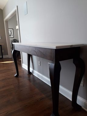 Custom Made Walnut Side Or Console Table With A Quartz Top