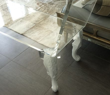 Custom Made Acrylic Chasis Lounge - Hand Crafted, Custom Sizing Never A Problem.  Customize The Legs You Want