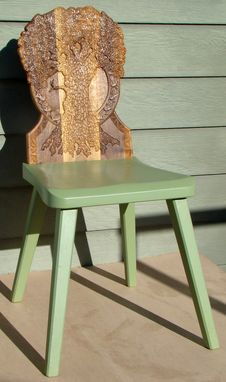 Custom Made Hand Carved Tree Chair