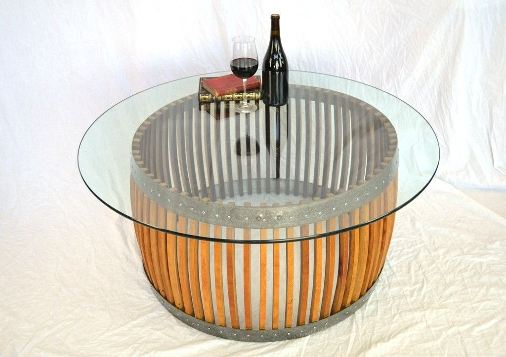 Buy A Handmade Craftsman Capparis Wine Barrel Stave Coffee Table Made To Order From Wine