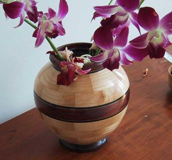 Custom Made Wood Vases