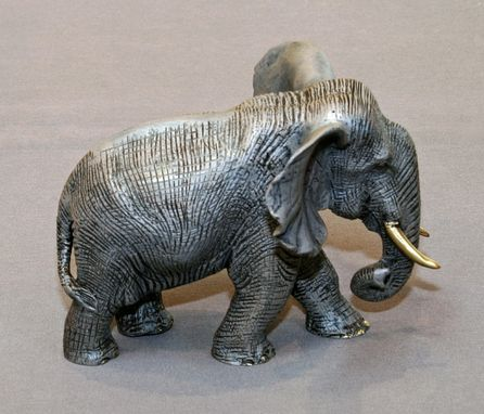 Custom Made Bronze Elephant