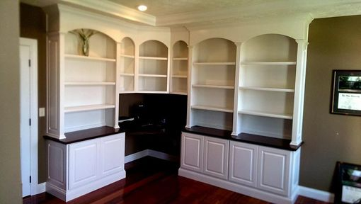 Custom Made Maple Desk And Bookcases