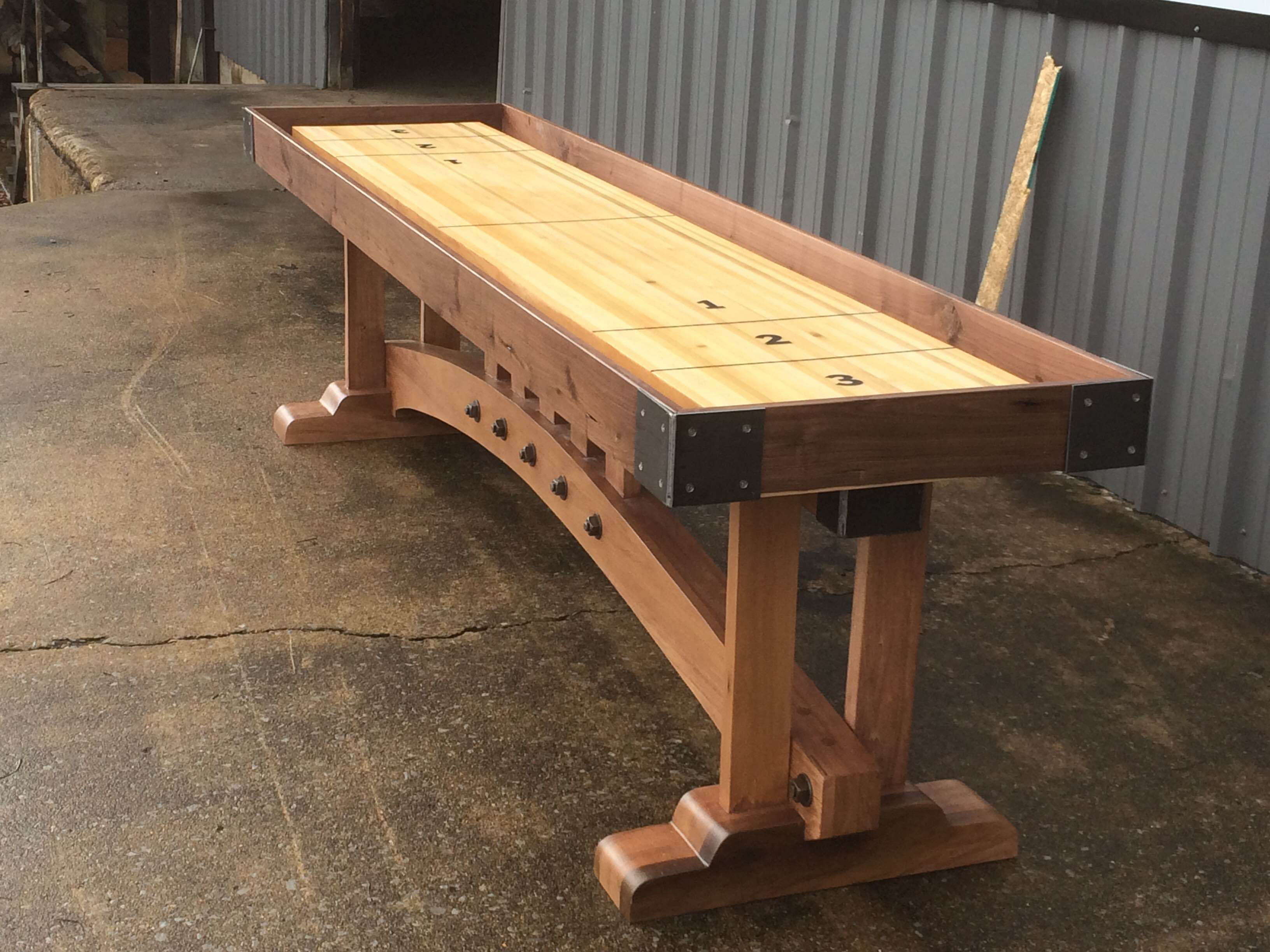 buy a custom craftsman shuffleboard table made to order. Black Bedroom Furniture Sets. Home Design Ideas