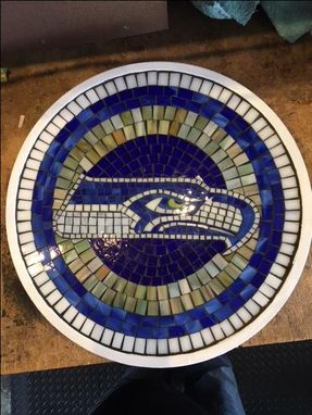 Custom Made Seattle Seahawks Mosaic Lazy Susan