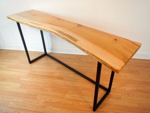 Custom Made Live Edge Maple Console Table