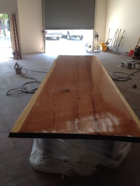 Custom Made Redwood Conference Table.