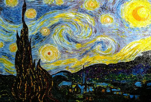 Custom Made The Starry Night - Unconventional Jigsaw