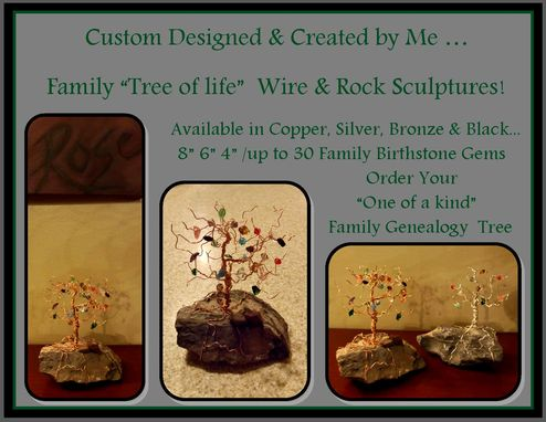 Custom Made Grandmother Gift,Mother Gift,Birthstone Tree,Family Tree,Family Tree,Tree Sculpture,Tree Of Life