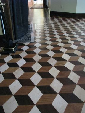 Custom Made Inlaid Hardwood Floor