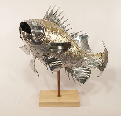 Custom Made Striped Bass - Fish Sculpture
