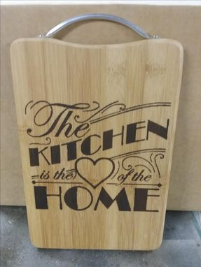 Custom Made Laser Engraved Bamboo Cutting Board