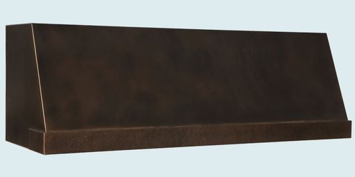Custom Made Bronze Range Hood With Hammered Band