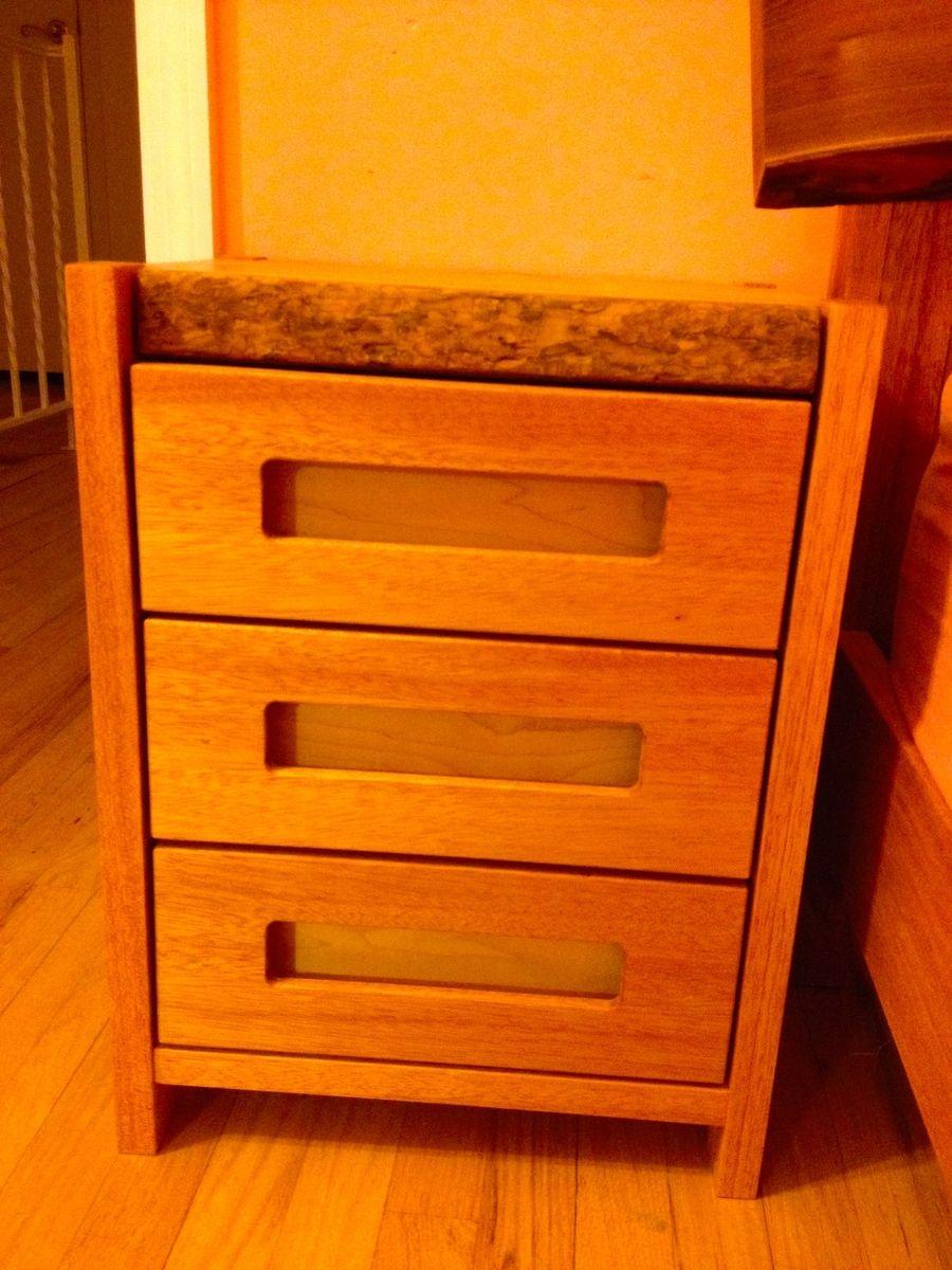 Mahogany Bed With Catalpa Head Board