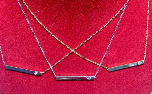 Custom Made Diamond Bar Necklace