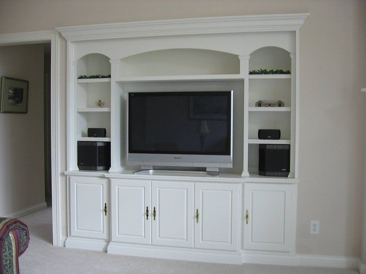 Hand Crafted Maple Media Built In Bookcase By Speck Custom