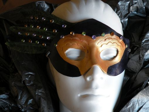 Custom Made Mardi Gras Mask With Bling
