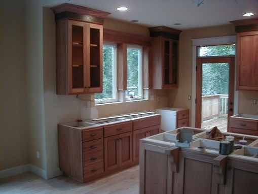 Custom Made Small Kitchen  . Recess Panels.