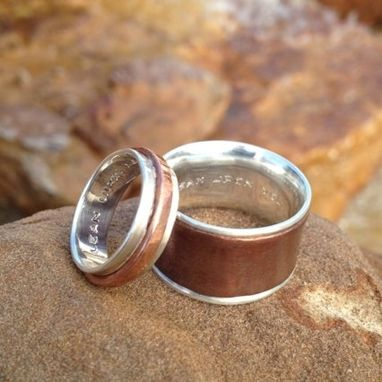 Custom Made Silver Liner Wedding Bands