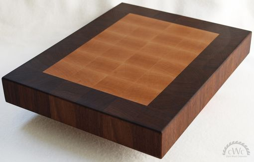 Custom Made Cutting Board - Solid Walnut And Maple End Grain Butcher Block