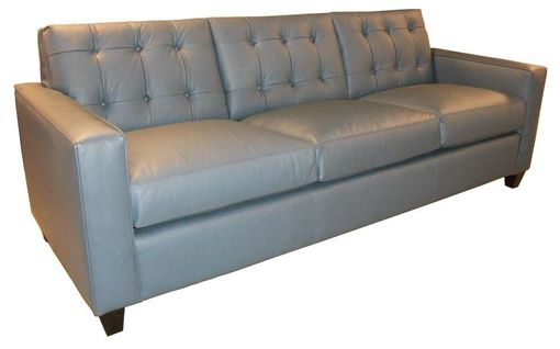 Custom Made Inset Back Panels And Tufted Sofa
