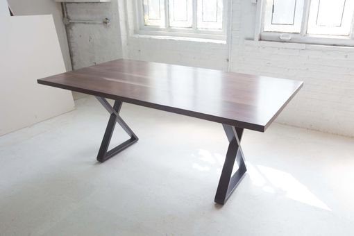Custom Made X-Base Walnut Dining Table