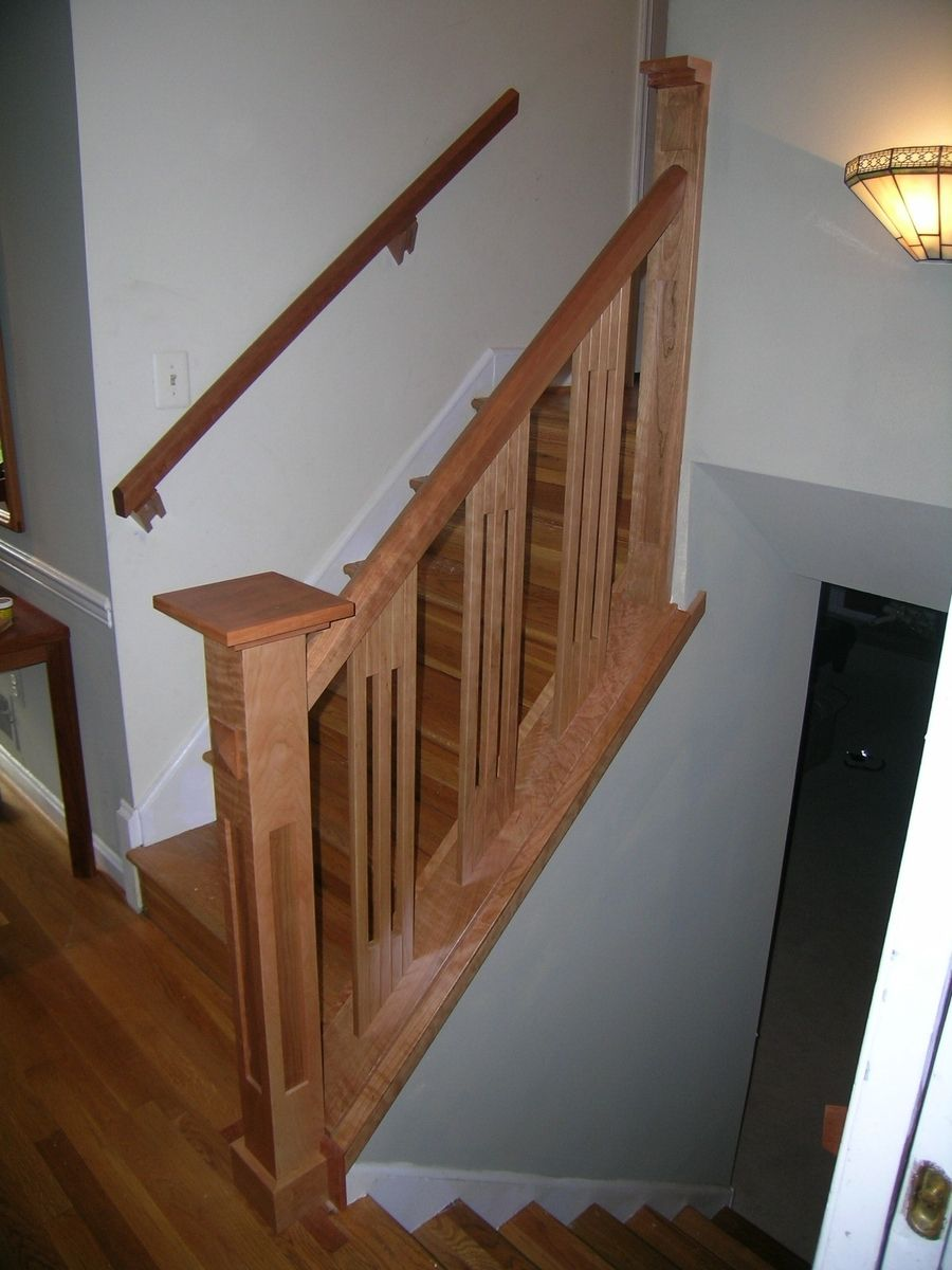 Custom Stair Railing Handmade Stair Railing By Dunbar Woodworking Designs Custommadecom