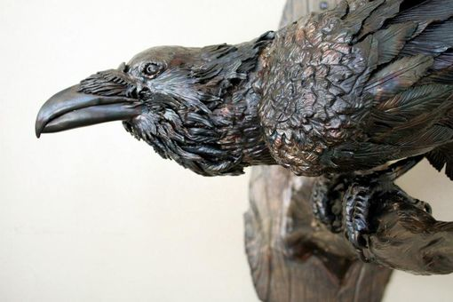 Custom Made Wildlife Sculpture, Raven