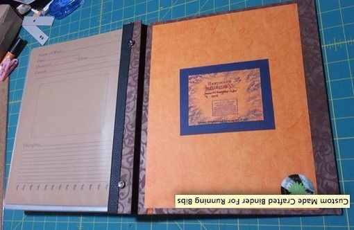 Custom Made Crafted Binder For Running Bibs
