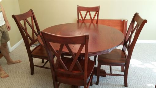 Custom Made Solid Oak Hardwood Dining Table