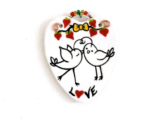 Custom Made Kissing Love Birds Hanging - Love