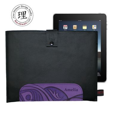 Custom Made Leather & Suede Ipad Cover