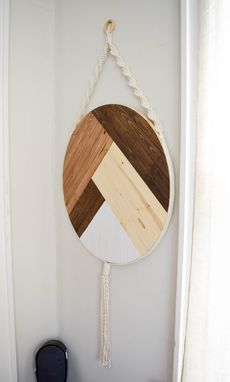 Custom Made Frith - Round Macrame Wood Wall Art Hanging