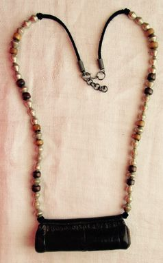Custom Made Ethiopian Necklace With Vintage Ethiopian Kitabe, Ethiopian Silver Beads, Rasta, African, Boho