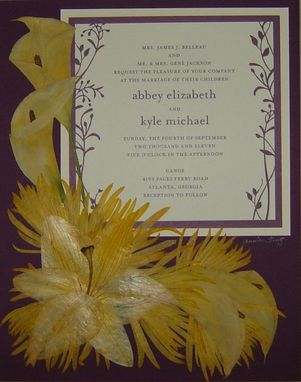 Custom Made Preserved Bridal Bouquet With Wedding Invitation