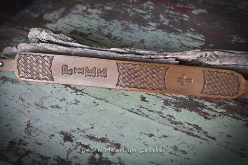 Custom Made Customized Vegetable Tanned Leather Rifle Sling Or Gun Sling Hand Tooled Slim Style.