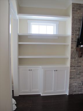 Custom Made Fireplace Surround Built-Ins