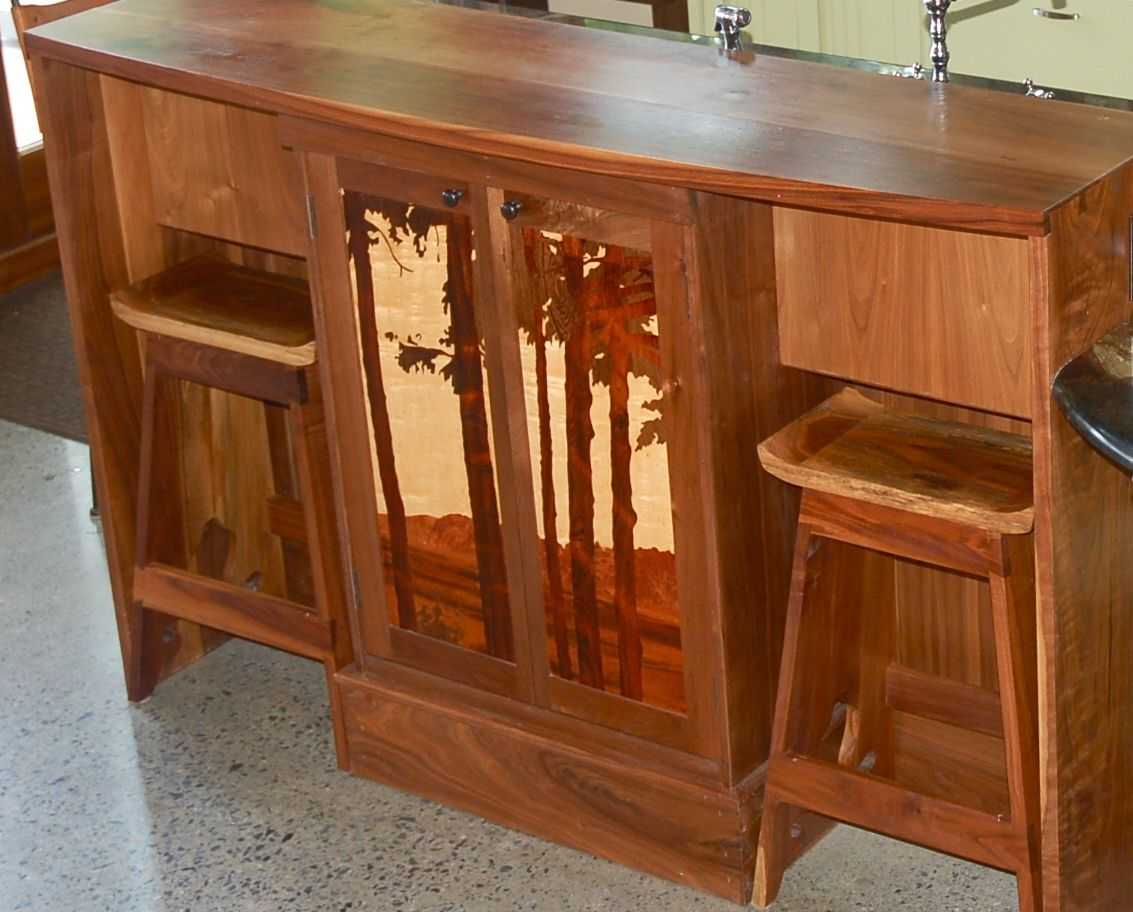 Hand Made Custom Claro Walnut Japanese Style Counter