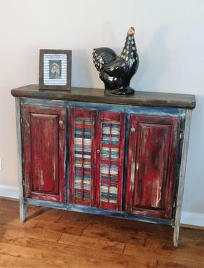 Custom Made Reclaimed Wood Credenzia, Sideboard, Pie Safe