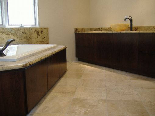 Custom Made Contemporary Vanities And Tub Surround
