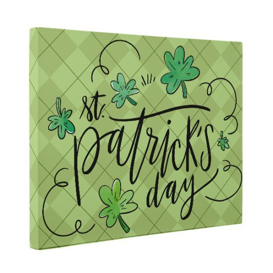 Buy Hand Crafted St Patrick S Day Decor Canvas Wall Art Made To Order From Paper Blast Custommade Com