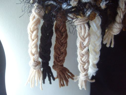 Custom Made Hot Fudge Sundae Scarf - In Brown,Tan, And Black / Knit Scarf, Gifts For Women