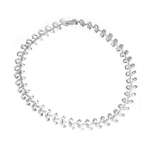 Custom Made Elegant Diamond Necklace/Choker In 14k White Gold, Diamond Choker, Ladies Necklace
