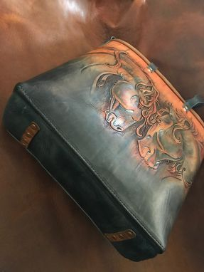 Custom Made Leather Friesian Western Horse Tote