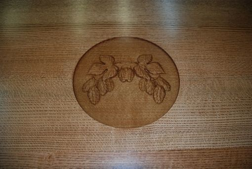 Custom Made Quarter Sawn Oak Conference Table With Carved Logo